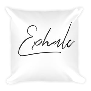 Exhale white cushion