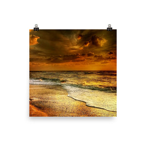 Golden beach print - Pretty Ventura