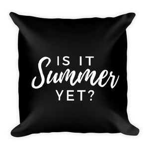 Is it summer yet? black cushion - Pretty Ventura
