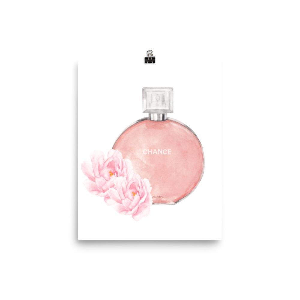 Chance perfume watercolour print