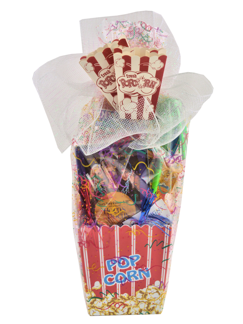 "CELEBRATION POPCORN BASKET ""CUSTOM MADE"" - KS Gift Baskets"