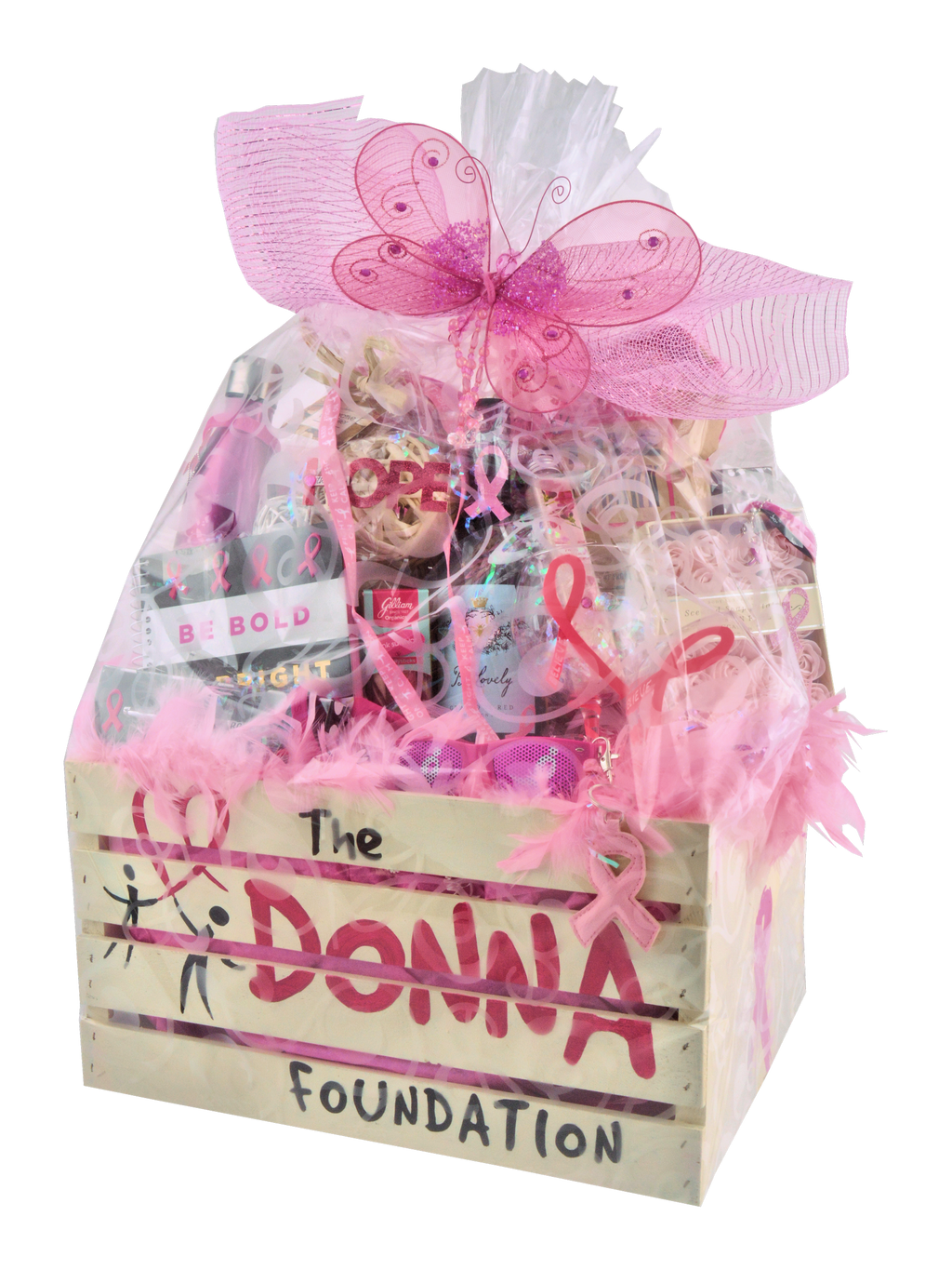 "RUN FOR DONNA CARE CRATE ""CUSTOM MADE"" - KS Gift Baskets"