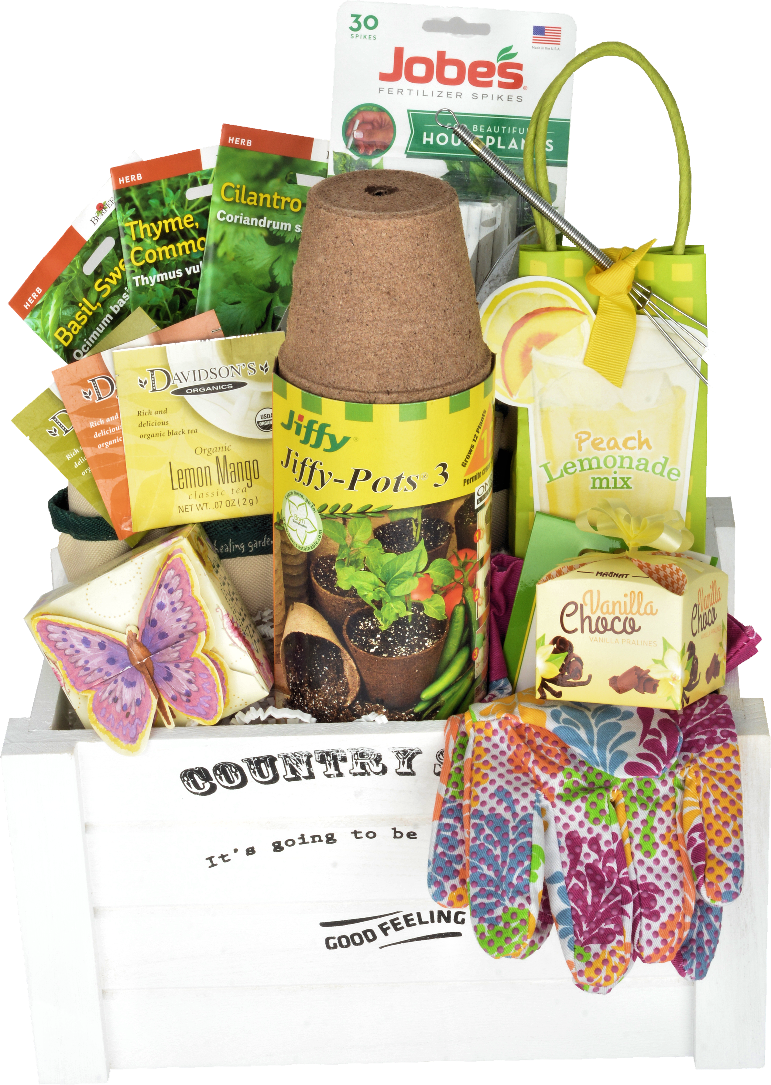 "THE GREEN THUMB GIFT BASKET ""CUSTOM MADE"" - KS Gift Baskets"