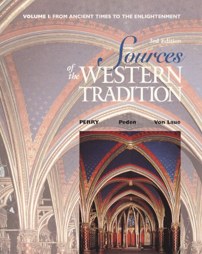 Sources of the Western Tradition Vol. 1