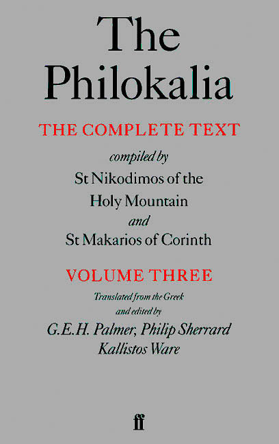 The Philokalia: Volume 3
