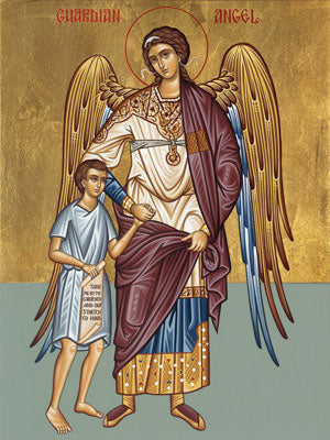 Guardian Angel Icon with Little Boy (Small)