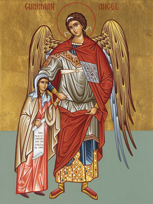 Guardian Angel Icon with Little Girl (Small)