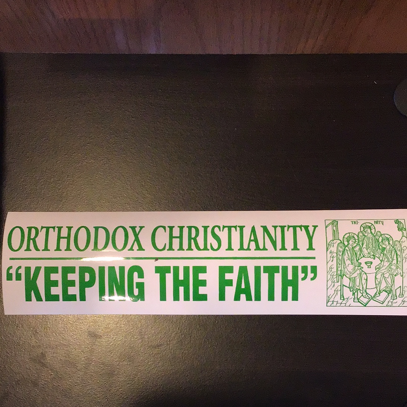 Keeping the Faith bumper sticke
