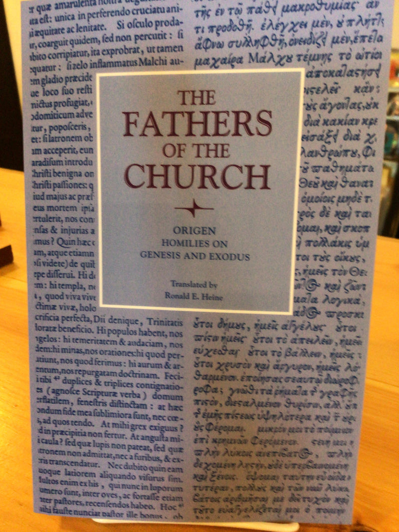 The Fathers of the Church: Origen Homilies on Genesis and Exodus