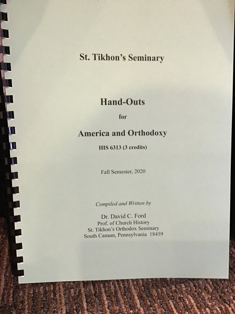 Handouts, America and Orthodoxy