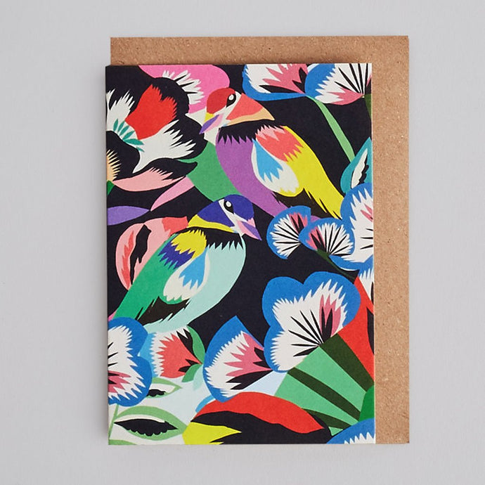 Kitty McCall - Birds in Flowers card
