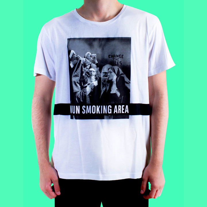 Nun Smoking Area Beyaz Tshirt