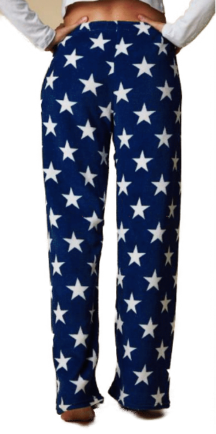 Pyjama Fleece Pants - Navy  with Stars