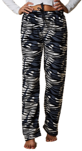Pyjama Fleece Pants - White Tiger Print