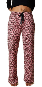 Pyjama Fleece Pants -Pink Leopard