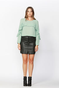 Perfect Pleat Blouse - Seafoam