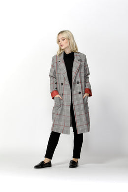 SASS Undercover Check Trench Coat