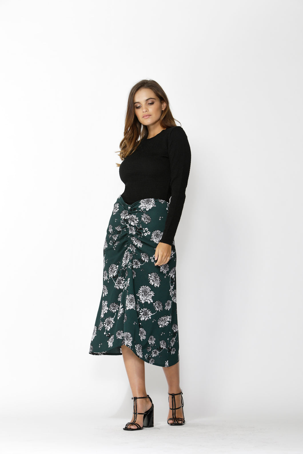 Magnolia Fields Rouched Skirt