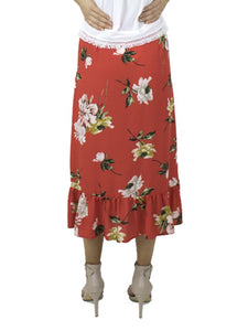 MIA Red Floral Skirt