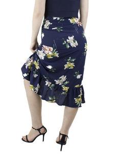 MIA Navy Floral Skirt