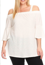 Plus Size Off Shoulder Top