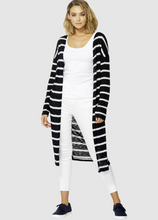 Mila Knit Cardigan - Ink/White