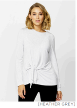 Betty Basics Monaco Knot Top - Heather Grey