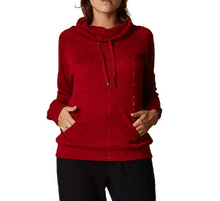 Cowl Neck Top Kanga Pocket - 2 Colours