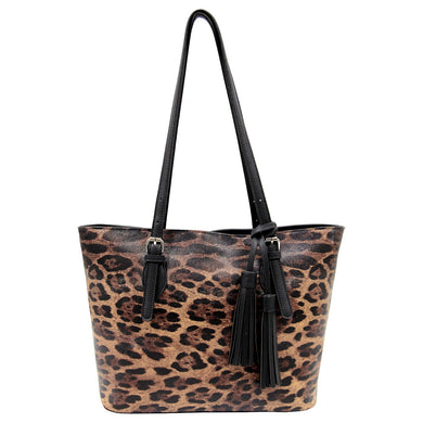 Tigerlily Shoulder Bag - Brown Leopard