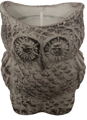 Candle - Cement Owl