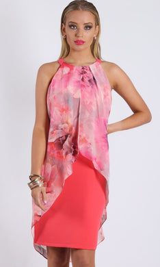 New Cover Pink Halter Dress