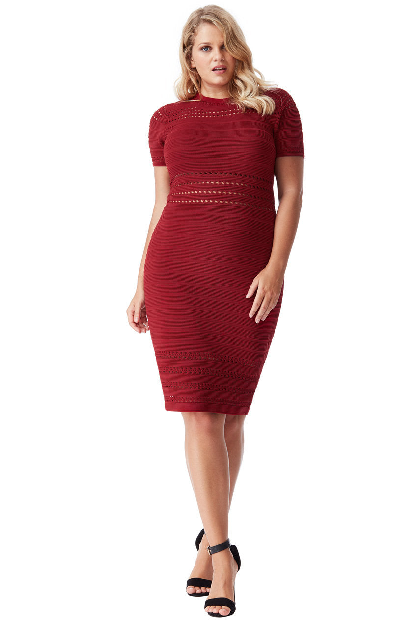 Wine cut out Dress Style DR950P