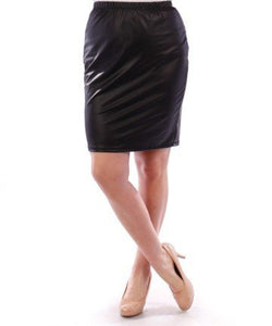 Faux Leather Skirt Style YPSK1355