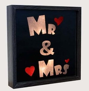 LED Block Mr & Mrs