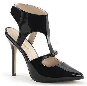 Black Patent Sling Back Pump