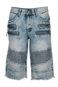 Denim Moto Biker - Light Blue