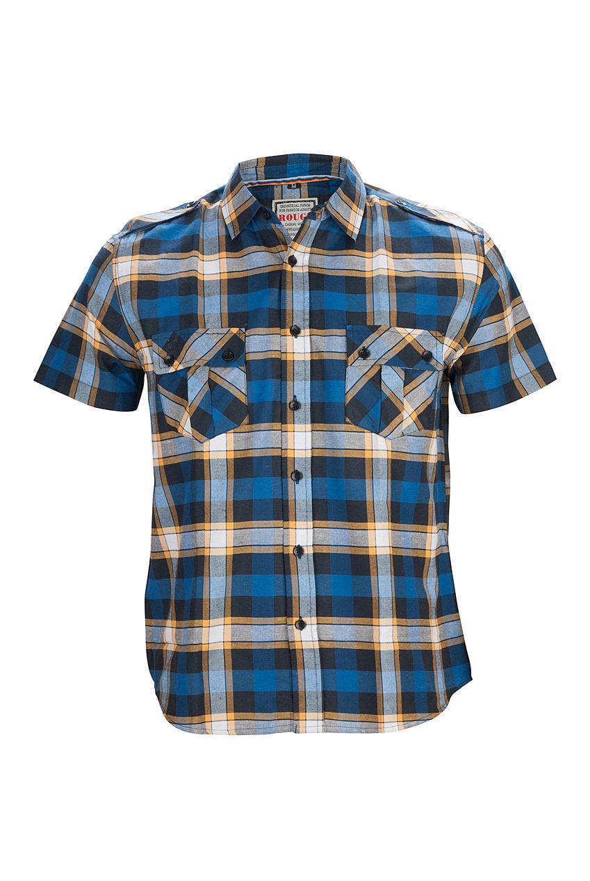 Rogue Men's Blue Check Shirt