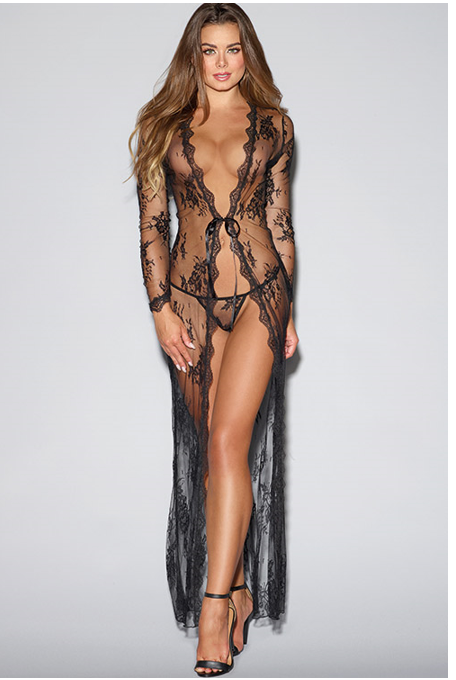 Dreamgirl Gisele Full-Length Lace Gown