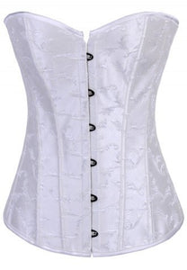 Ivory Floral Boned Corset