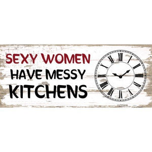Wooden Clock Sign -  Sexy Women