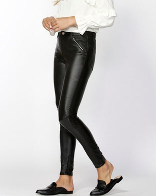 Jaydan Coated Black Pants