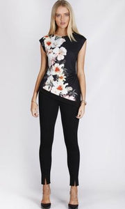 Asymmetric Floral Top