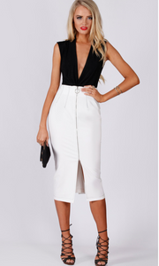 Centre Front Zip Skirt