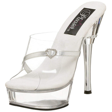 Allure Clear with Silver Heel & Strap