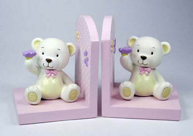 Teddy Baby Girl Bookend
