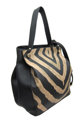 Med Faux leather handbag - Animal