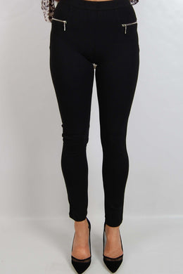 Spicy Sugar Black Zip Pants