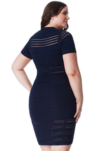 Navy cut out Dress Style DR950P