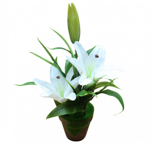 Artificial Plant -  White Lily