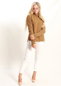 Turtle Neck Camel Jumper